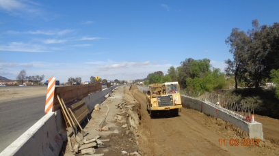 Back-filling Retaining Wall Along I-15 Northbound On-Ramp