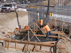 South bridge footing concrete pour