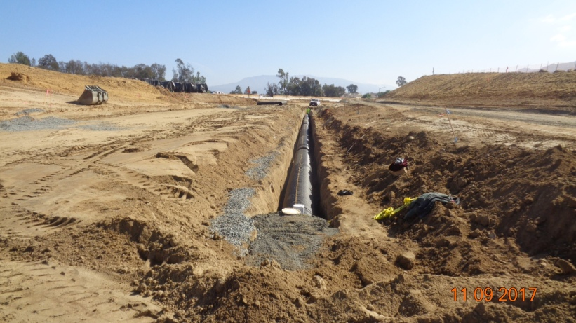 Drainage System Along New I-15 Southbound On-Ramp