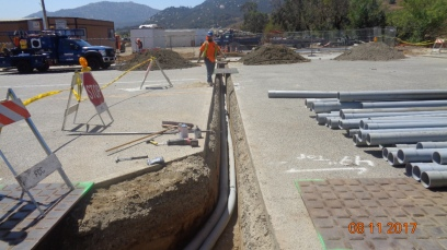 Southern California Edision Power Line Relocations at End of Temecula Parkway.