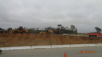 Embankment for New Southbound Off Ramp.