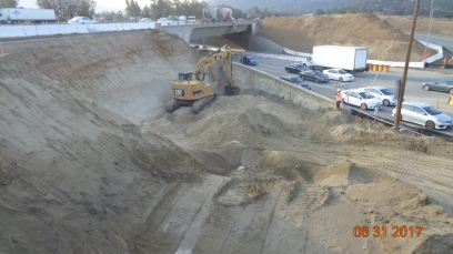 Excavation for New Bridge Foundation