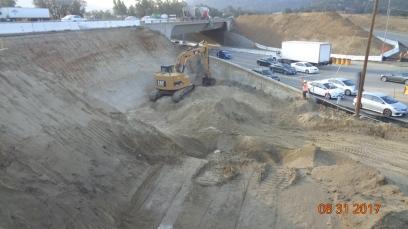 Excavation for New Bridge Foundation