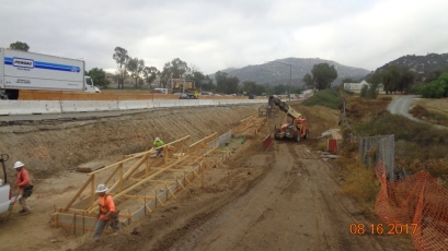 Formwork for Foundation of Retaining Wall along New Southbound On Ramp