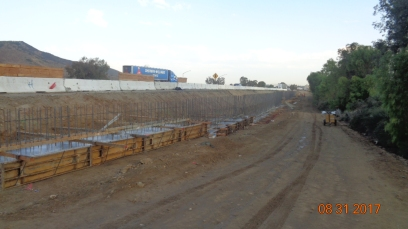 Footing of Retaining Wall Along North Bound I-15 On-Ramp