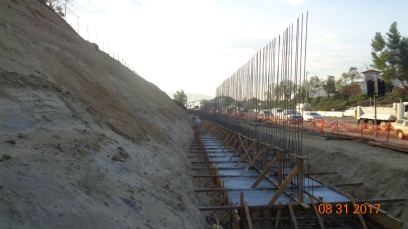 Footing of Retaining Wall Along Temecula Parkway