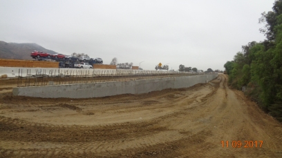 Retaining Wall Along I-15 Northbound On-Ramp