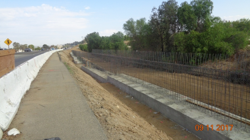 Retaining Wall along NB On-ramp