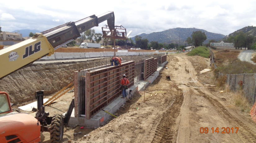Retaining Wall along SB On-ramp