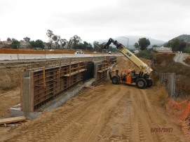 Retaining Wall Along South Bound On-Ramp