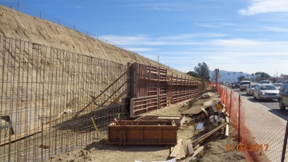 Retaining Wall Along Temecula Parkway