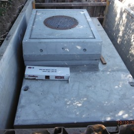 SCE underground vault in place