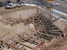Work in Progress at Bridge South Footing