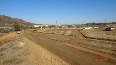 Grading Along New South Bound On-Ramp
