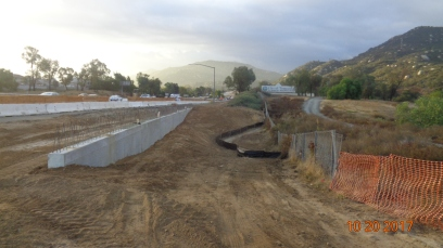 Retaining Wall Along New South Bound On-ramp