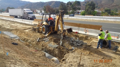 Drainage System Along North Bound On-Ramp
