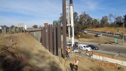 Shoring System at Retaining Wall