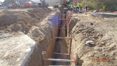 Construction of 30 inch water system