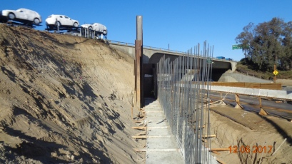 RW 102 Easterly side of existing bridge along eastbound direction of Temecula Parkway