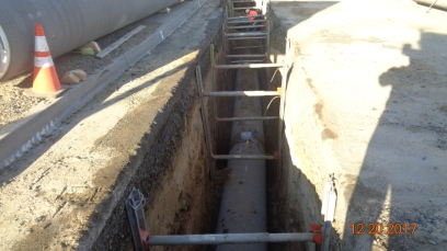 30 inch water system along Temecula Parkway
