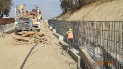 Retaining Wall along North Bound On-ramp