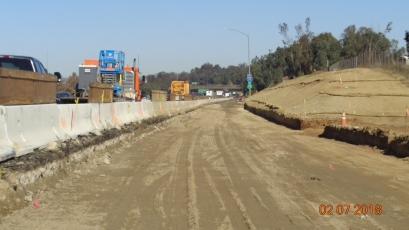 Road grade along NB On-ramp