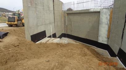 Drainage at Abutment 1