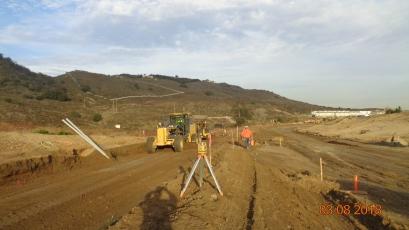Grading along Access Road