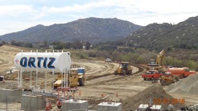 Grading along new SB On-ramp