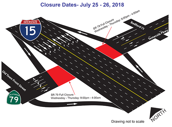July 25-26 Closure map