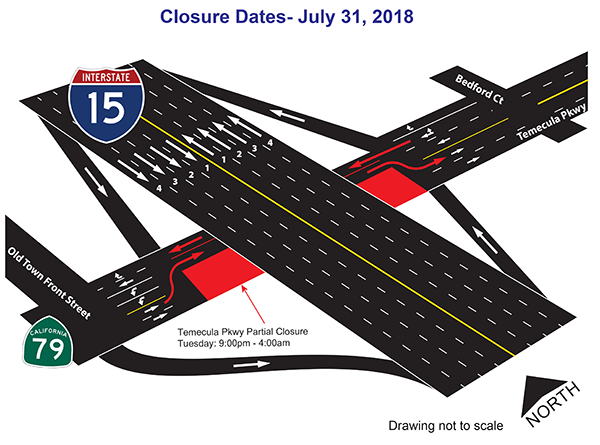 July 30-31 Closure map
