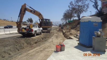 Structural Section along EB Temecula Parkway