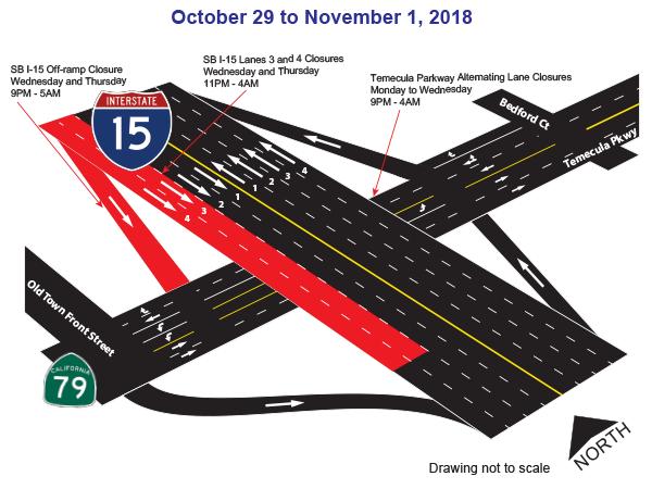 Oct 29 - Nov 1 Closure map