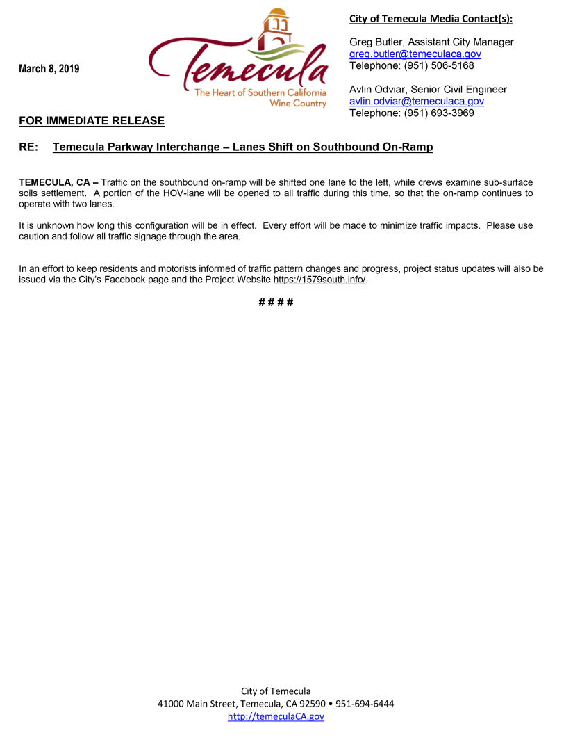 20190308 Press Release - SB On Ramp